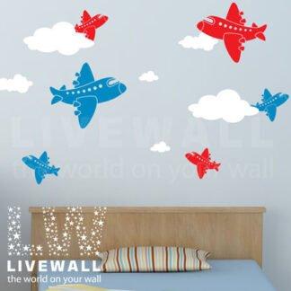 Αυτοκόλλητα τοίχου Αεροπλανάκια – Airplanes