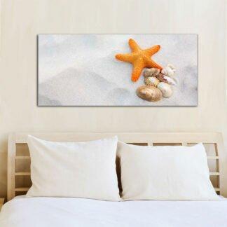 Πορτοκαλί αστερίας πίνακας σε καμβά
