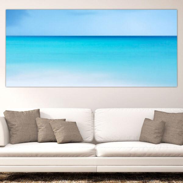 Πανοραμικός πίνακας σε καμβά Calm Blue