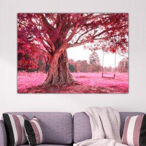 Πίνακας σε καμβά Δέντρο σε κούνια