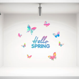 Hello spring no2 αυτοκόλλητο βιτρίνας