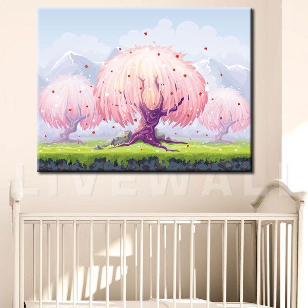 Παιδικός πίνακας σε καμβά magic forest