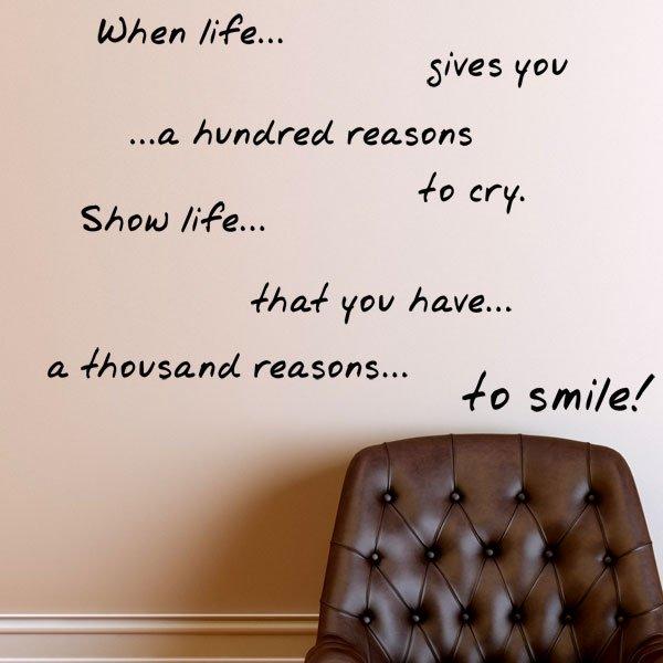 Αυτοκόλλητο τοίχου When life…