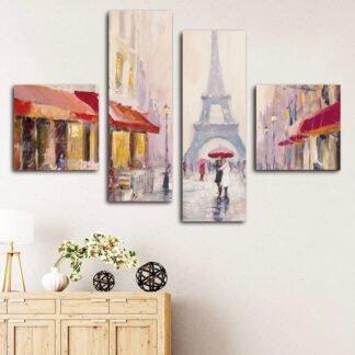 Τετράπτυχος Paris  πίνακας σε καμβά