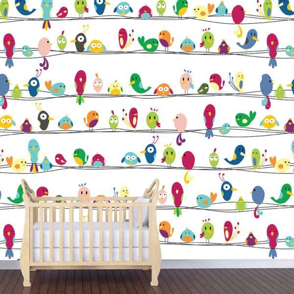 Πουλάκια φωτοταπετσαρία τοίχου