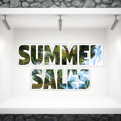 Αυτοκόλλητο βιτρίνας καλοκαιρινών εκπτωσεων Summer sales no 504