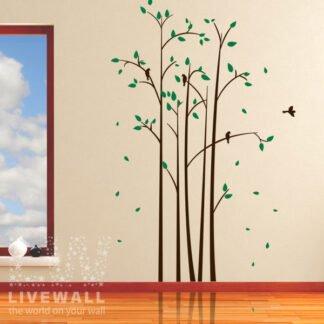 Αυτοκόλλητα τοίχου ψηλά δέντρα
