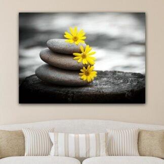 Zen stones no3 πίνακας σε καμβά