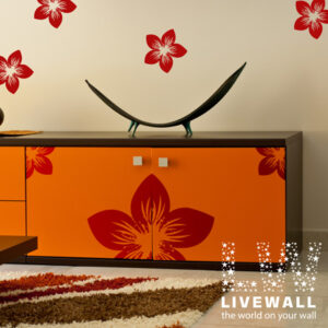 Αυτοκόλλητα τοίχου Διακοσμητικά λουλούδια