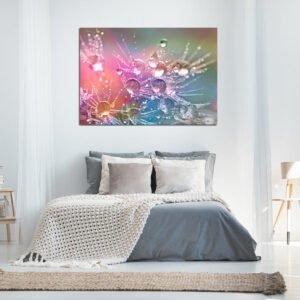 Colorful dandelion πίνακας σε καμβά