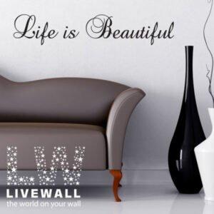 Life is αυτοκόλλητα τοίχου φράσεις
