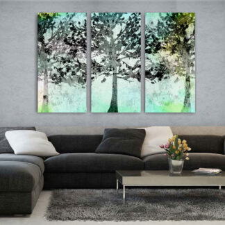 Τρίπτυχος πίνακας Mint Trees