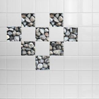 Σετ 8 τεμ αυτοκόλλητα πλακακια stone no2