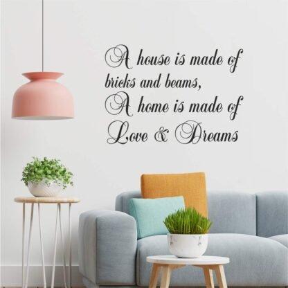 Αυτοκόλλητο τοίχου A house is made of...