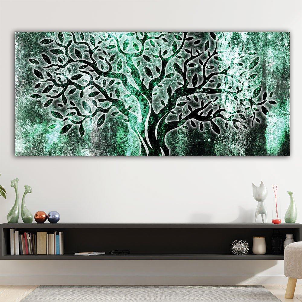 Πίνακας σε καμβά Abstract shine olive tree turquise