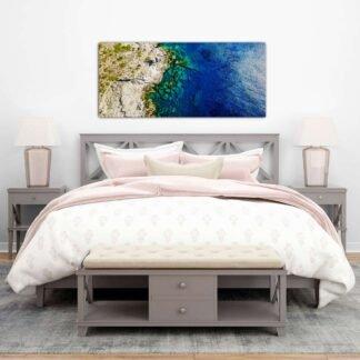 aerial rocks and sea πίνακας σε καμβά