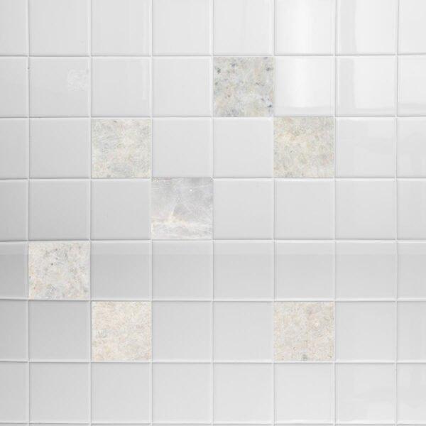 Σετ 8 τεμ αυτοκόλλητα white marble