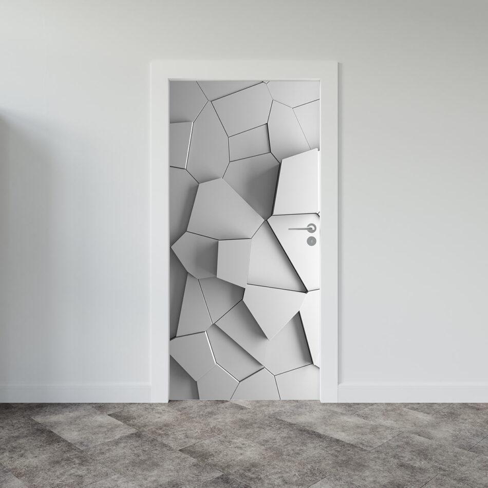 Αυτοκόλλητο πόρτας Abstract 3d