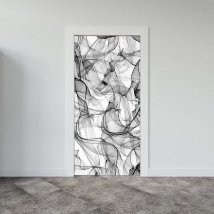 Αυτοκόλλητο πόρτας abstract-smoke