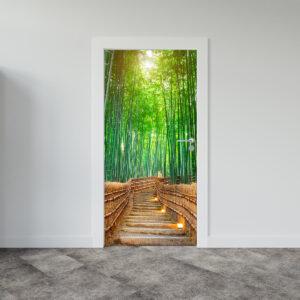 Αυτοκόλλητο πόρτας Bamboo path