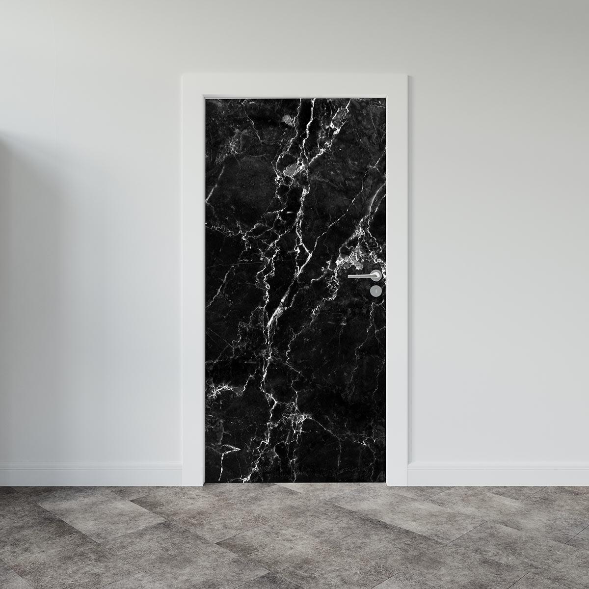 Αυτοκόλλητο πόρτας Black Marble