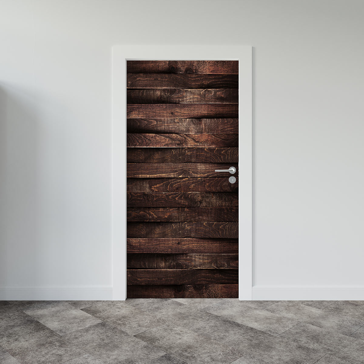 Αυτοκόλλητο πόρτας Dark-Wood