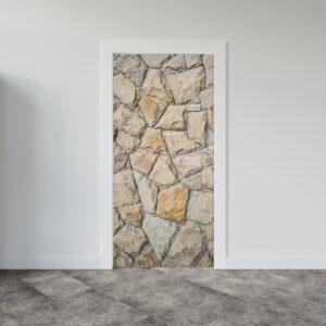 Αυτοκόλλητο πόρτας πέτρα