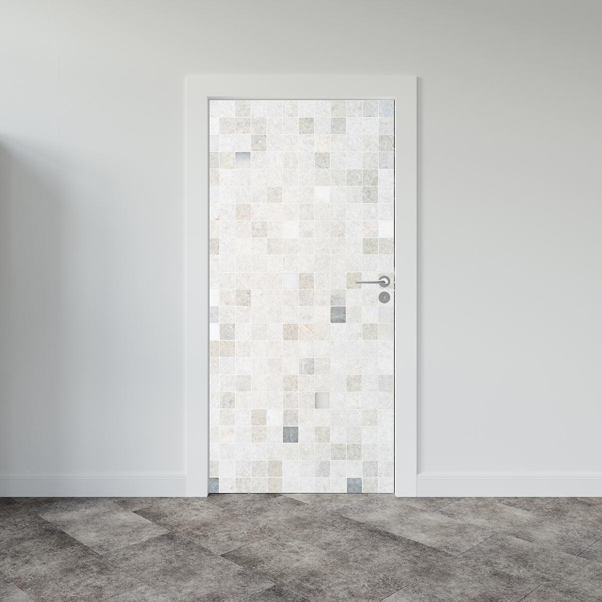 Αυτοκόλλητο πόρτας tiles