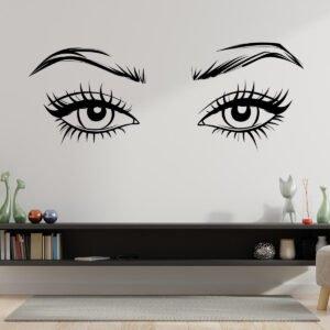Αυτοκόλλητα τοίχου γυναικεία μάτια / βλεφαρίδες