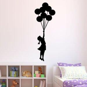 Αυτοκόλλητα τοίχου Balloon girl
