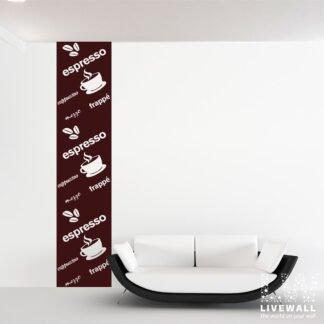 Αυτοκόλλητο τοίχου Banner καφές