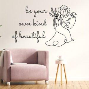 Αυτοκόλλητο τοίχου be your own kind of beautiful