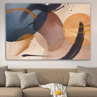 Πίνακας σε καμβά beige brown abstract