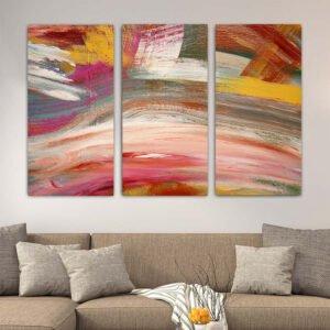 Τρίπτυχος πίνακας σε καμβά Color Paint No2