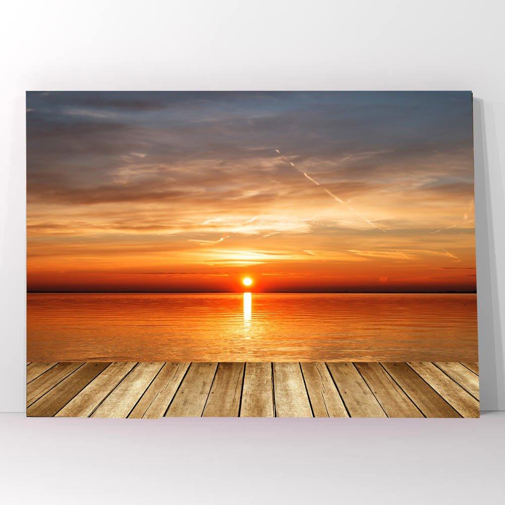 Πίνακας σε καμβά deck sunset