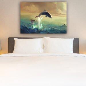 Πίνακας σε καμβα Dolphin Painting