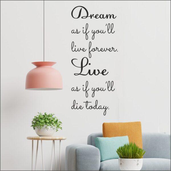 Αυτοκόλλητο τοίχου Dream as
