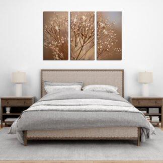 Τρίπτυχος πίνακας Dried Flowers