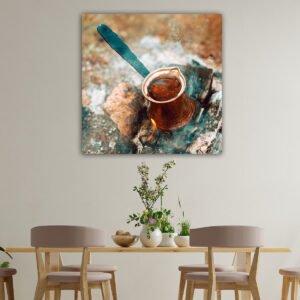Ελληνικός καφές πίνακας σε καμβα