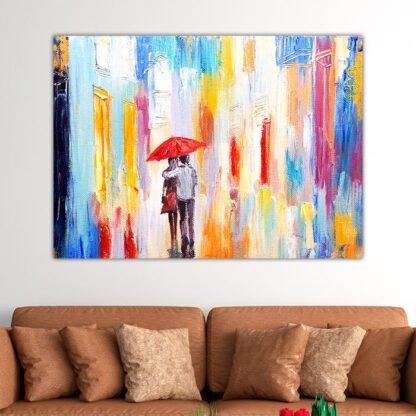 Πίνακας σε καμβά ερωτευμένο ζευγάρι
