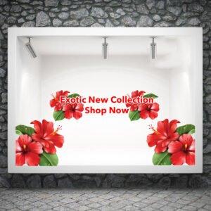 Αυτοκόλλητο βιτρίνας exotic new Collection Νο2
