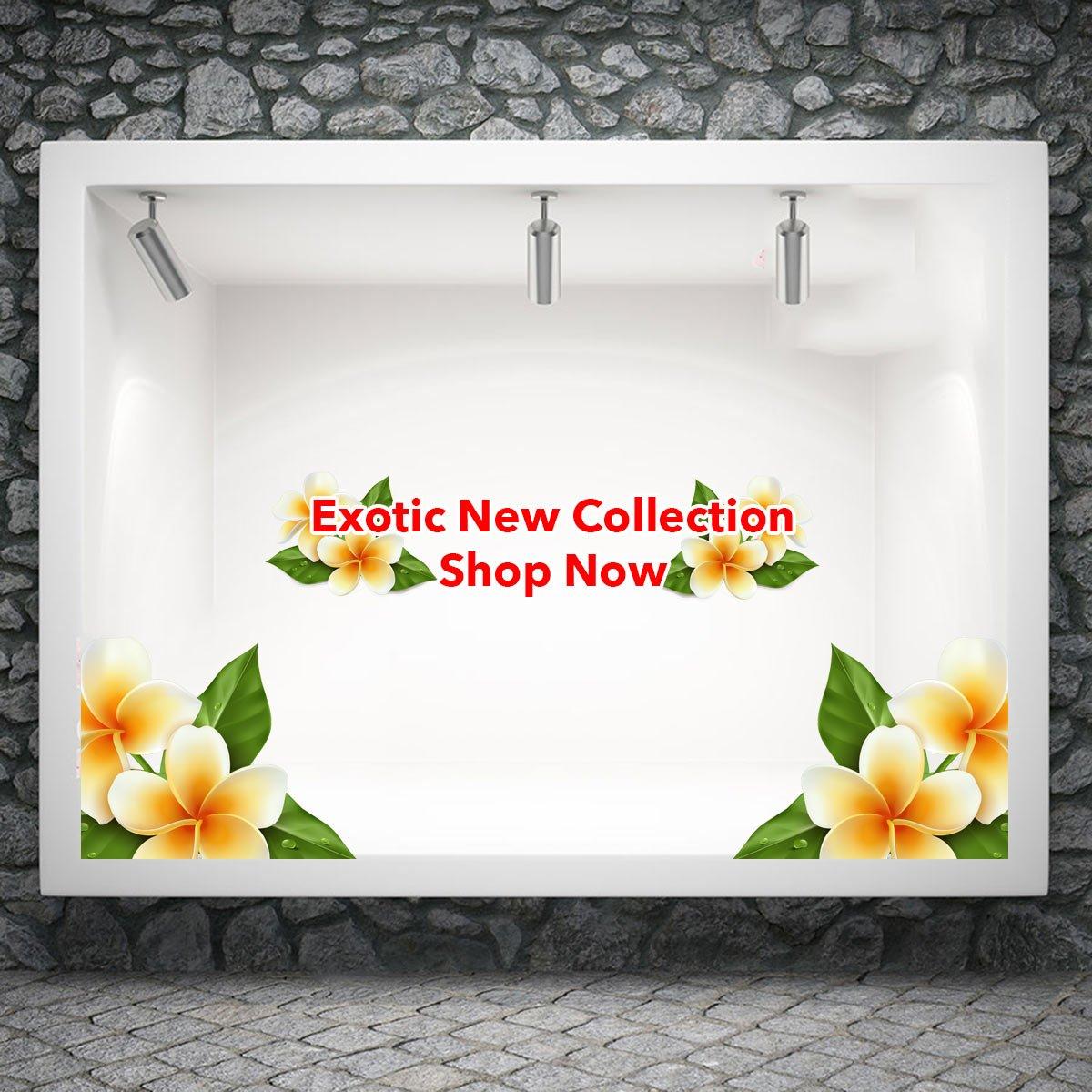 Αυτοκόλλητο βιτρίνας exotic new Collection