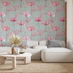Φωτοταπετσαρία τοίχου Floral