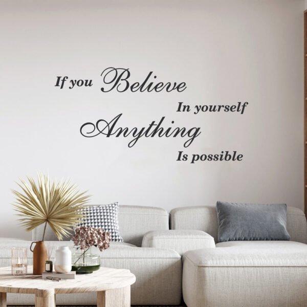 Αυτοκόλλητο τοίχου if you believe