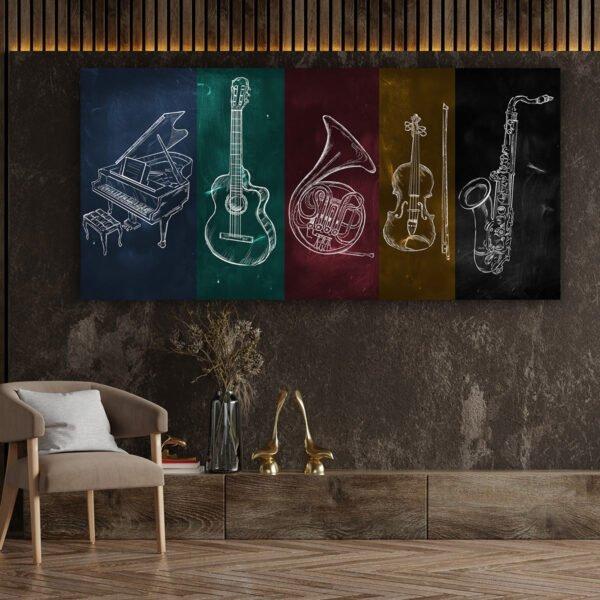 Πίνακας σε καμβά Music Elements