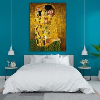 Klimt The kiss Αντίγραφο πίνακας σε καμβά