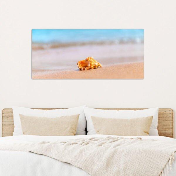 Κοχύλι στην παραλία πίνακας σε καμβά