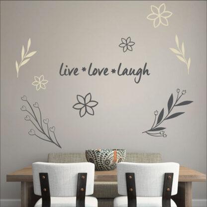 Αυτοκόλλητο τοίχου Live * Love * Laugh