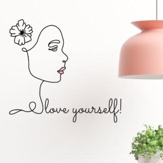 Αυτοκόλλητο τοίχου love yourself