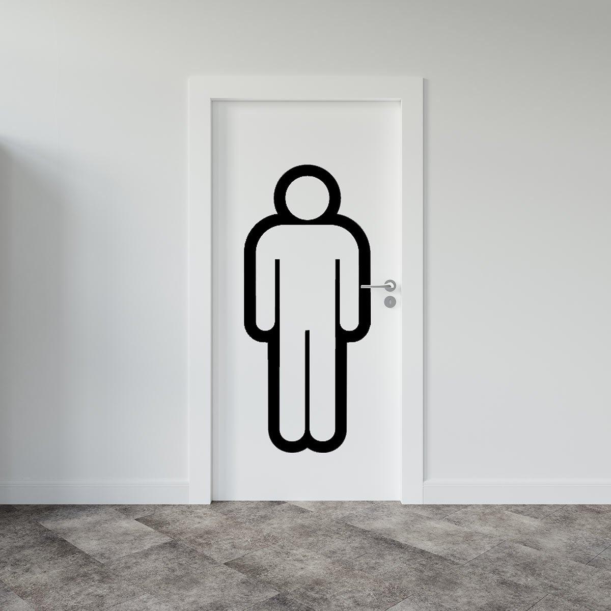 αυτοκολλητα σημανσης τουαλετας ανδρων